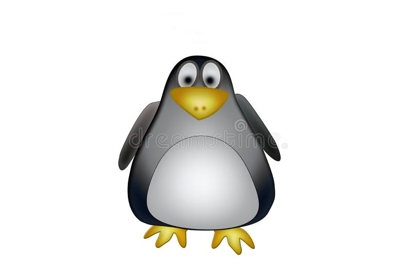 Illustration of Penguin cartoon royalty free stock photography