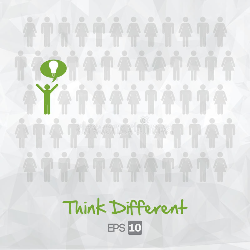 Download Illustration Of People Icons, Think Different Stock Vector - Image: 33640920