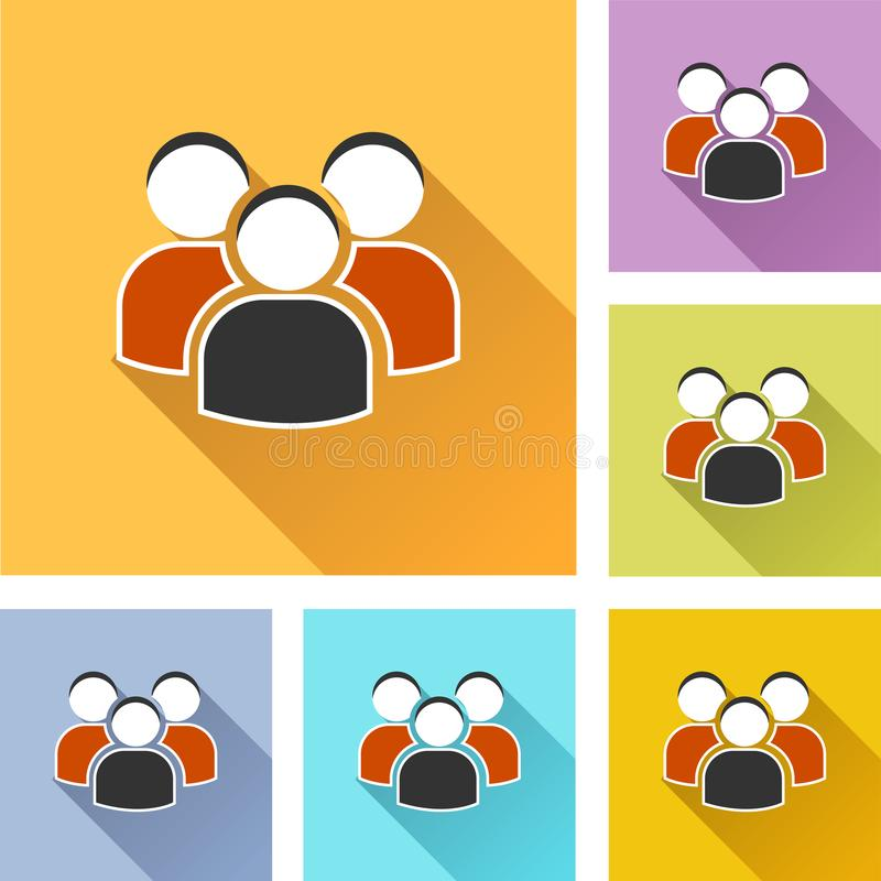 Peoples set icons royalty free illustration
