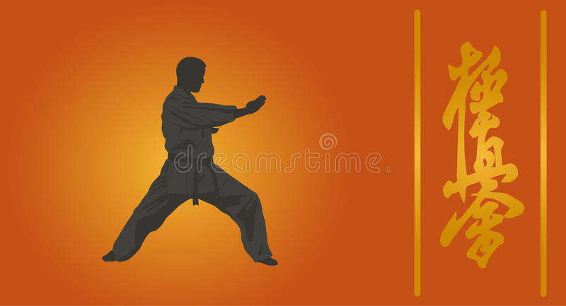 Download The Illustration, The Person In A Kimono Stock Image - Image of sports, kwon: 36701241