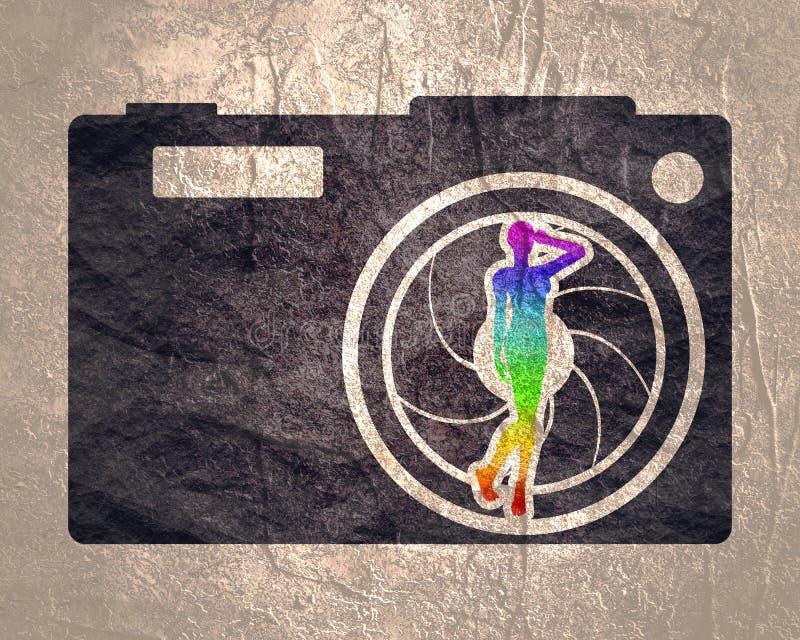 Photo camera icon. royalty free stock image