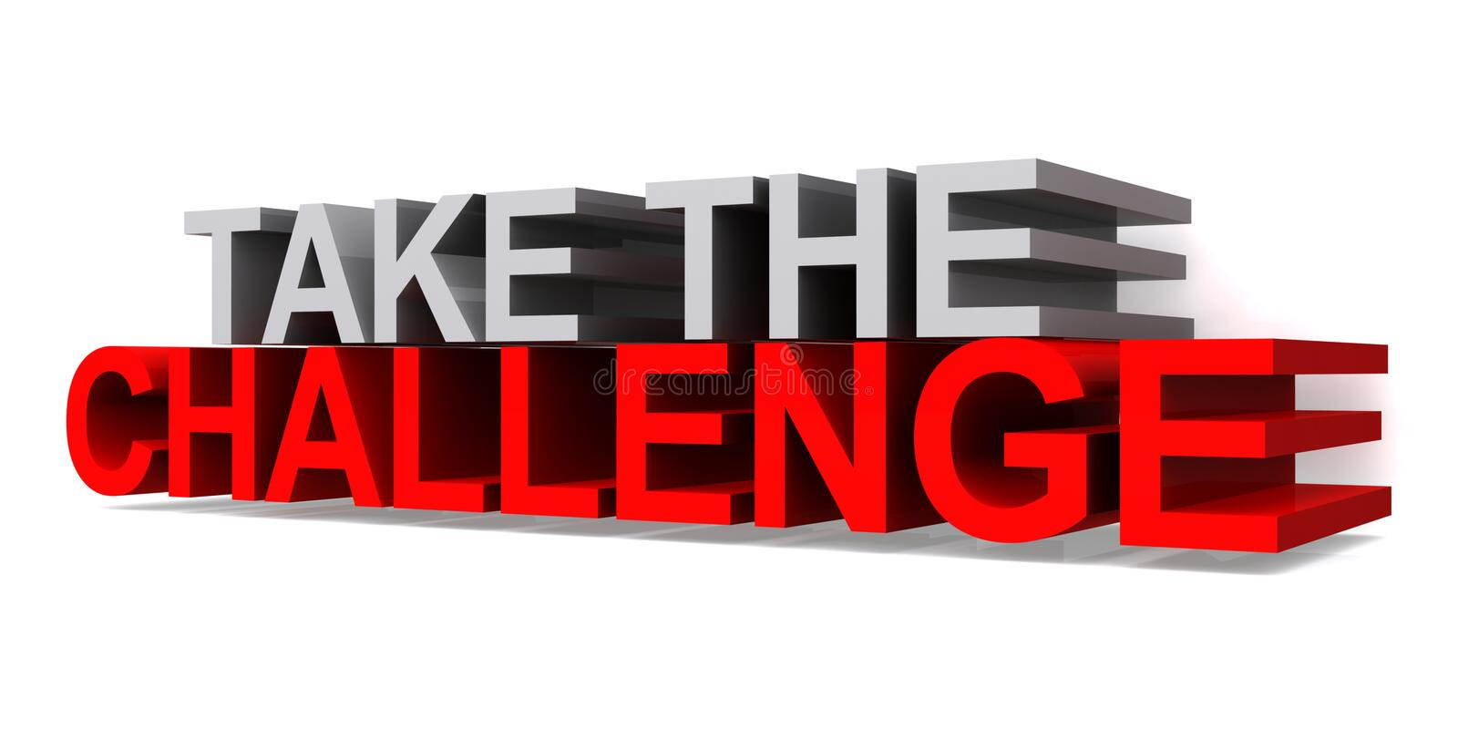 Take the challenge stock illustration