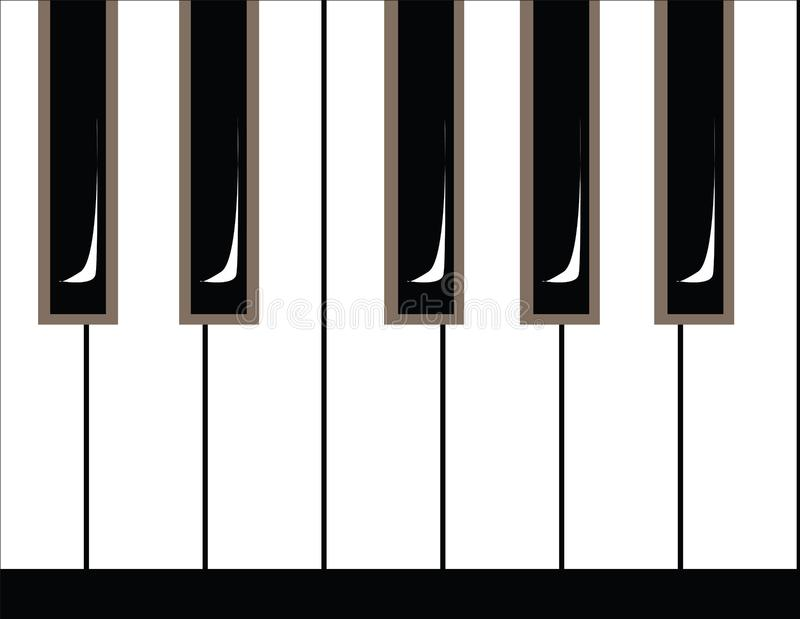 Illustration of piano keys stock image