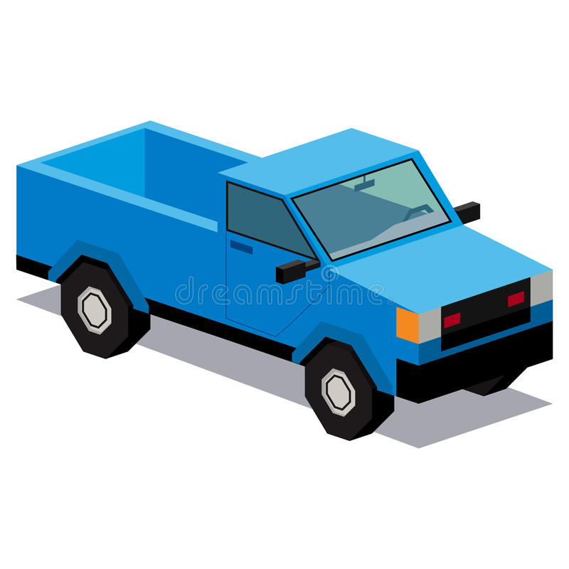 Illustration Of Pick-up truck Isolated On White Background vector illustration