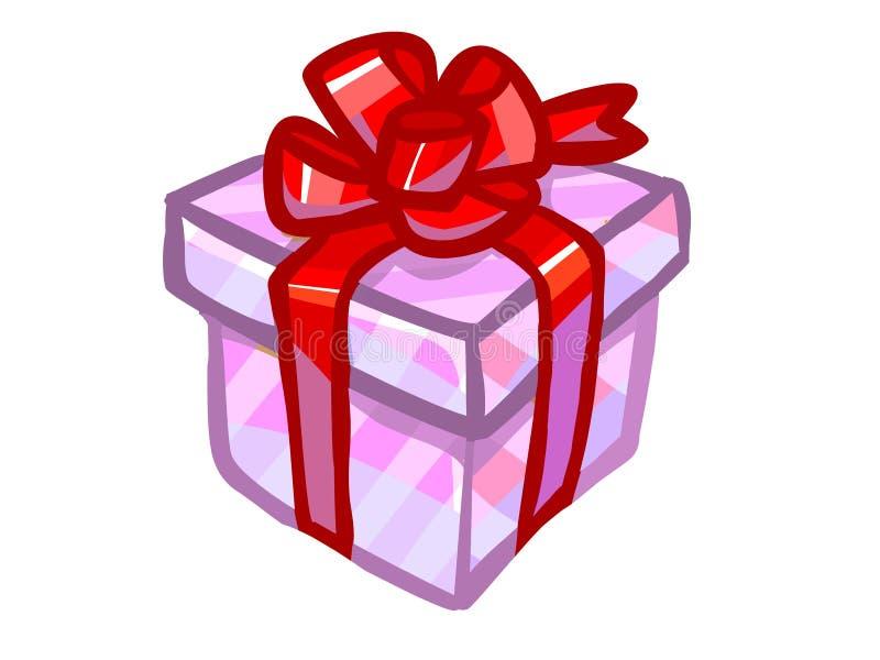 The Illustration Of A Pink Present Box. Stock Illustration
