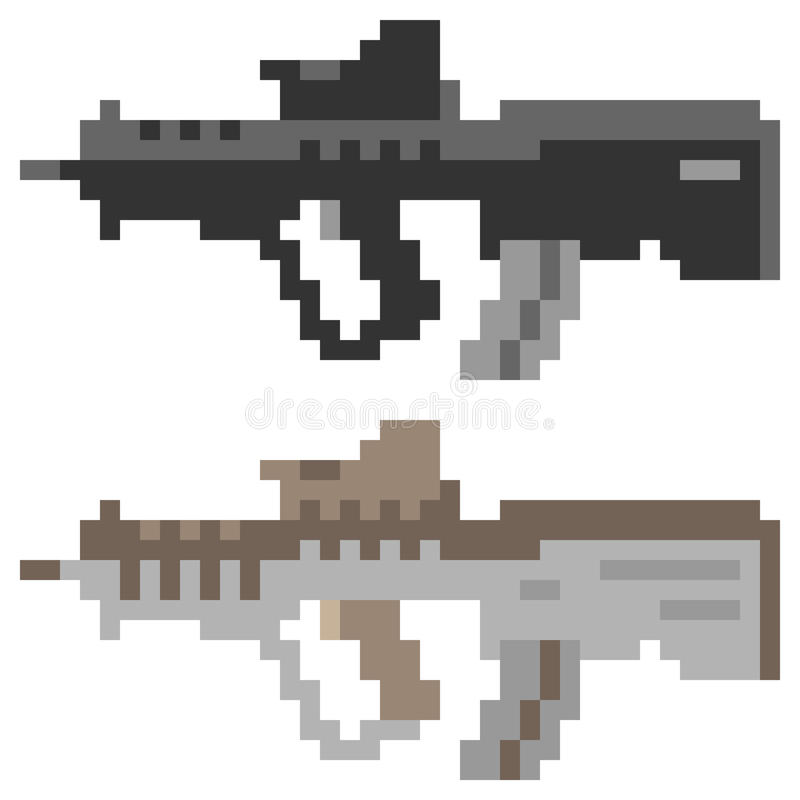 Pixel Art Icon Gun Stock Illustrations 164 Pixel Art Icon