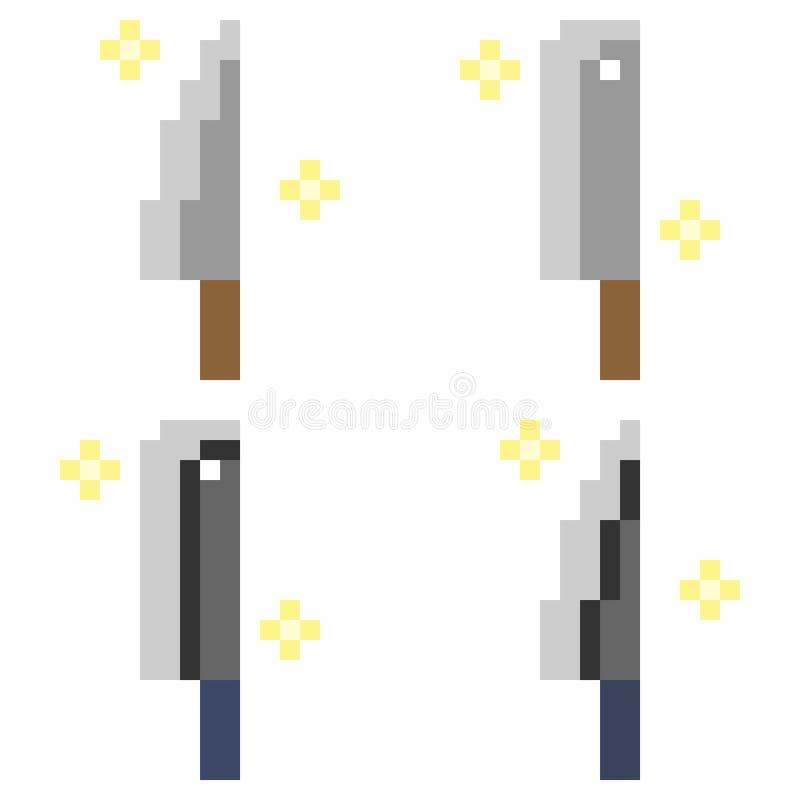 Illustration Pixel Art Icon Knife Stock Illustration