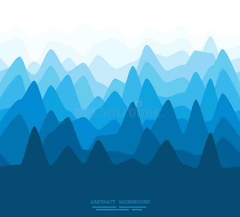 Illustration plate abstraite de montagnes illustration stock
