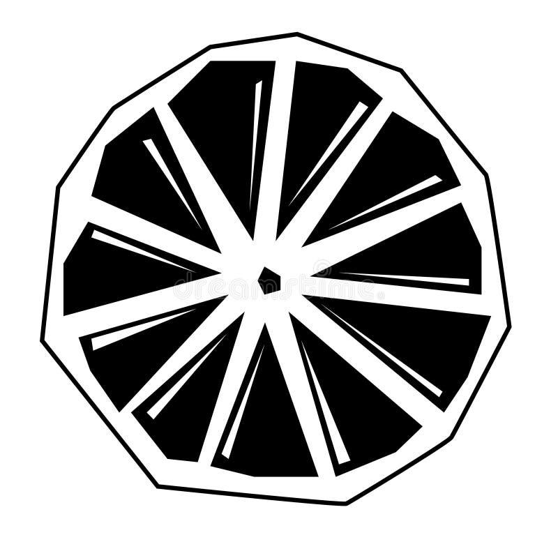Illustration plate d'agrume sur le blanc illustration stock