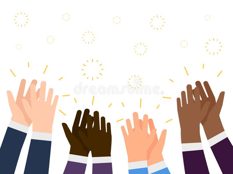 Illustration plate d'applaudissements Concept international de vecteur d'applaudissement de mains de personnes illustration libre de droits