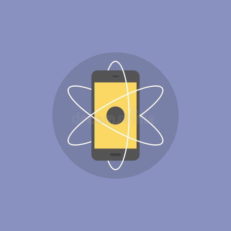 Illustration plate d'icône d'innovations mobiles illustration libre de droits