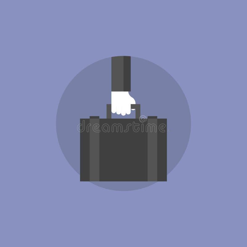 Illustration plate d'icône de portfolio d'affaires illustration libre de droits