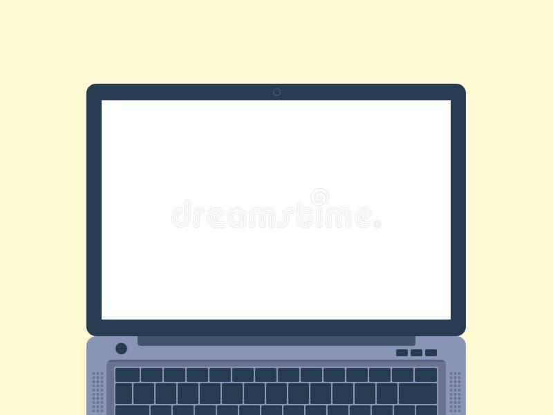 Illustration plate de conception d'ordinateur portable images libres de droits