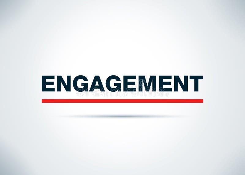 Illustration plate de conception de fond d'abrégé sur engagement illustration stock