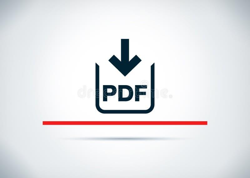 Illustration plate de conception de fond d'abrégé sur icône de téléchargement de document de pdf illustration libre de droits