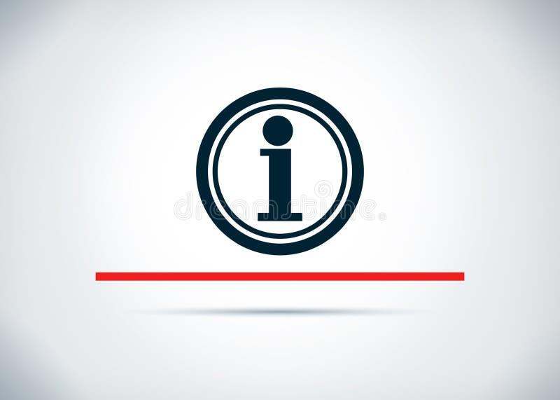 Illustration plate de conception de fond d'abr?g? sur ic?ne de l'information images stock