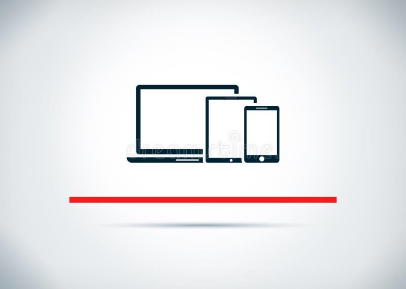 Illustration plate de conception de fond de dispositifs de Digital d'abrégé sur futé icône illustration libre de droits