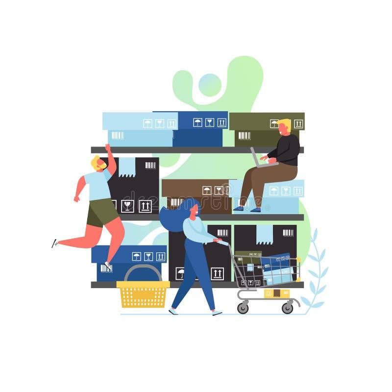 Illustration plate de conception de style de vecteur au détail de concept illustration stock