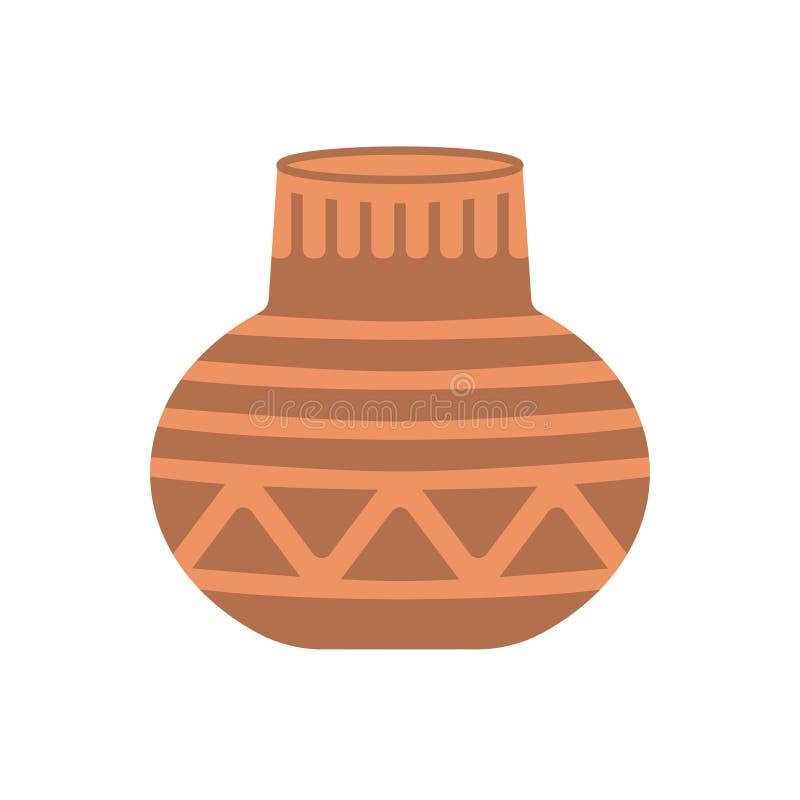 Illustration plate de poterie illustration libre de droits