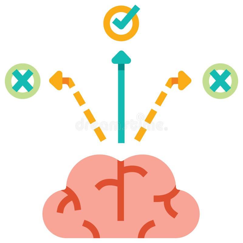 Illustration plate de prise de décision illustration de vecteur