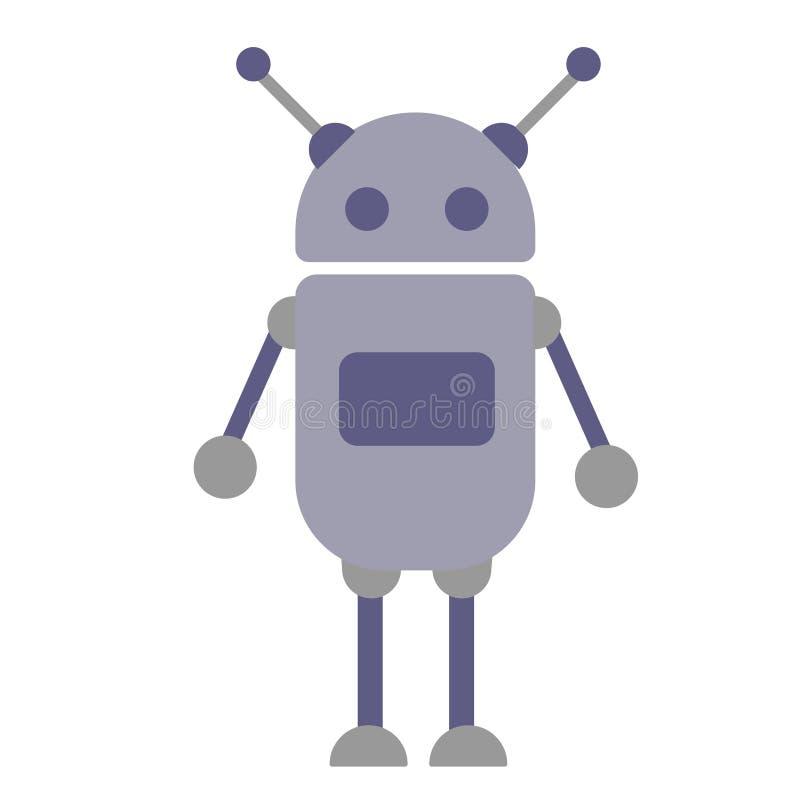 Illustration plate de robot illustration libre de droits