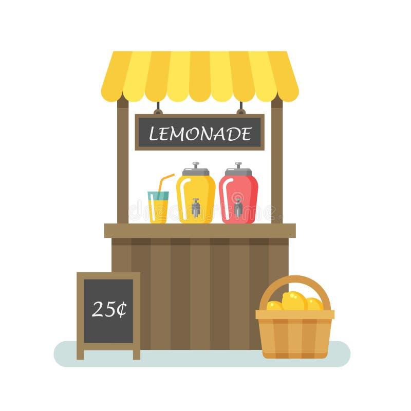 Illustration plate de stand de limonade illustration stock