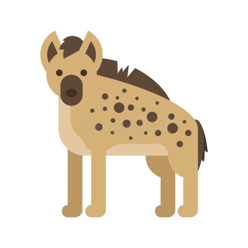 Illustration plate de style de vecteur d'hyène illustration de vecteur