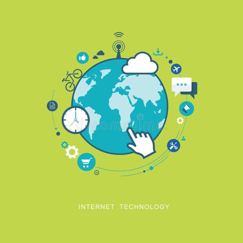 Illustration plate de technologie d'Internet illustration libre de droits