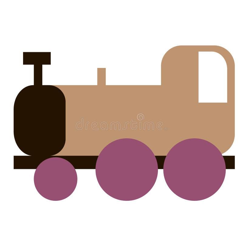 Illustration plate de train sur le blanc illustration stock