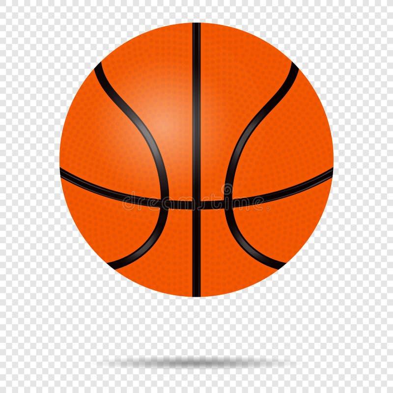 Illustration plate de vecteur de basket-ball de boule de sport d'équipement de concurrence de sphère de jeu de symbole orange de  illustration libre de droits