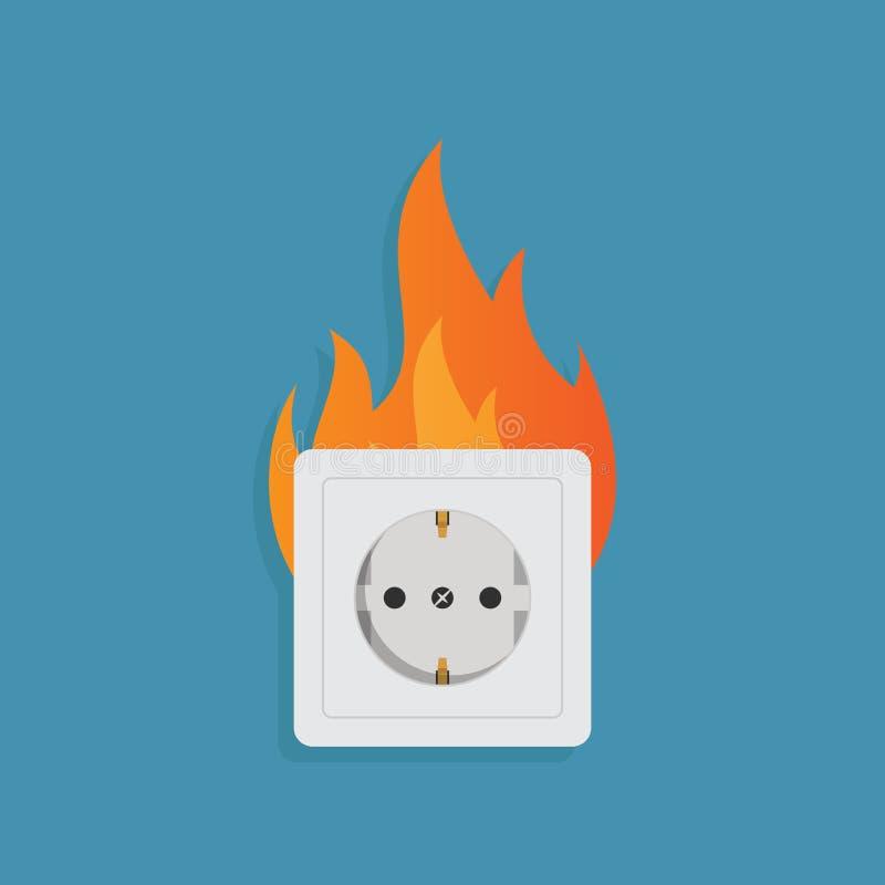 Illustration plate de vecteur de conception de l'électricité illustration stock