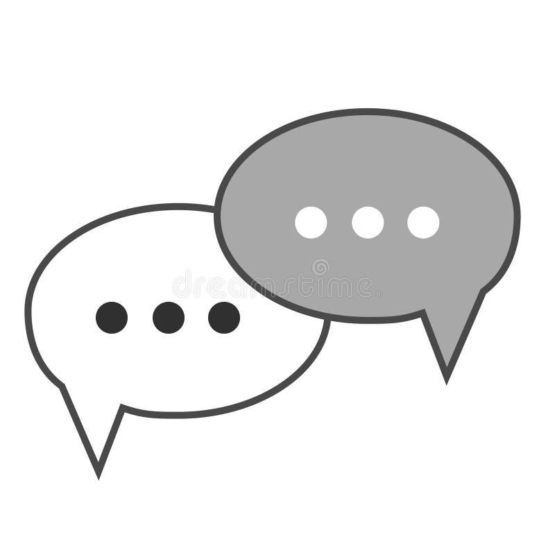 Illustration plate de vecteur d'icône de bulles de conversation de conception illustration stock