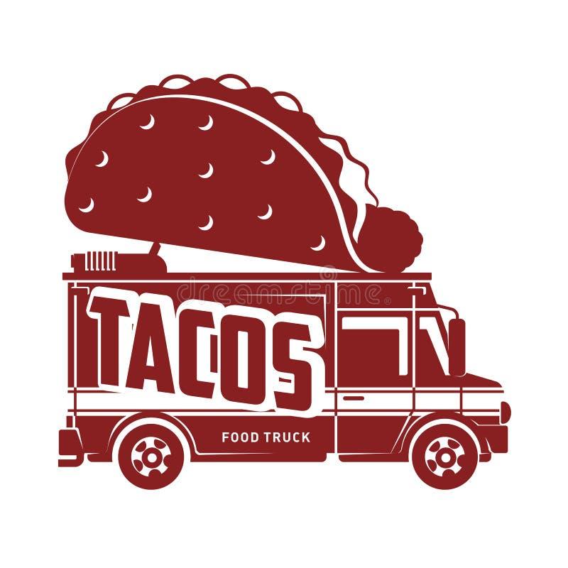 Illustration plate de vecteur de camion de nourriture illustration de vecteur