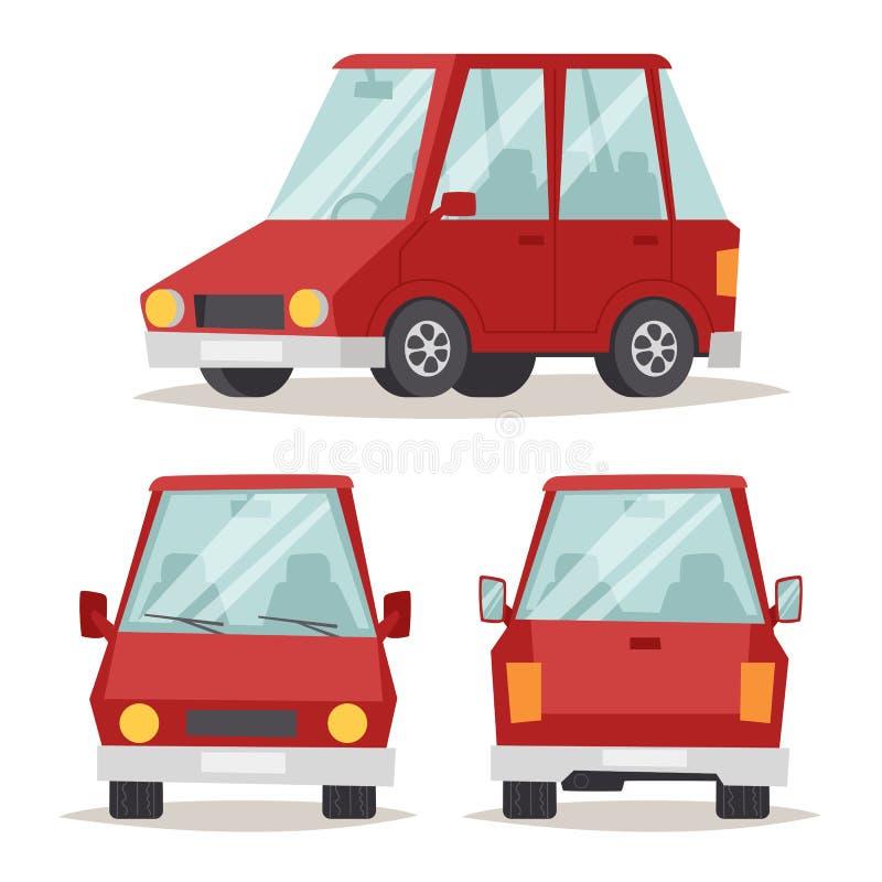 Illustration plate de vecteur de conception de luxe rouge générique de voiture d'isolement sur le blanc illustration libre de droits