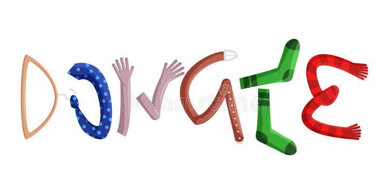 Illustration plate de vecteur des vêtements de donation illustration libre de droits