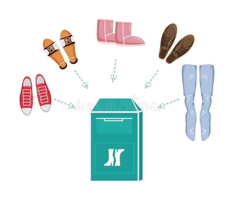 Illustration plate de vecteur de donation de vêtements illustration de vecteur