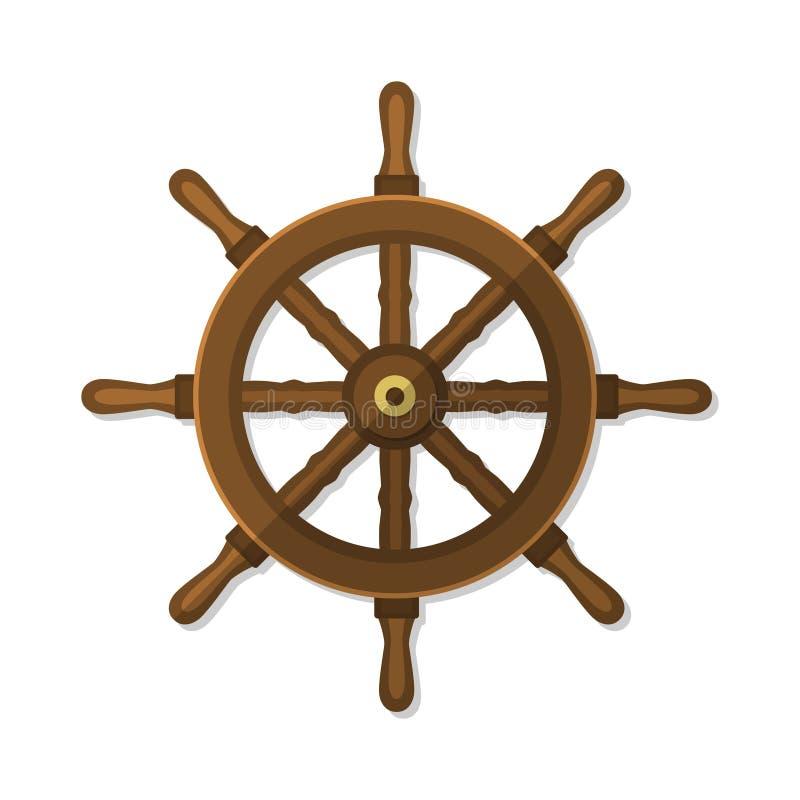 Illustration plate de vecteur de roue de bateau illustration de vecteur