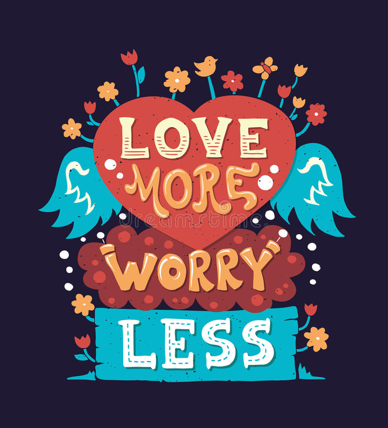 Illustration plate moderne de hippie de conception avec illustration libre de droits