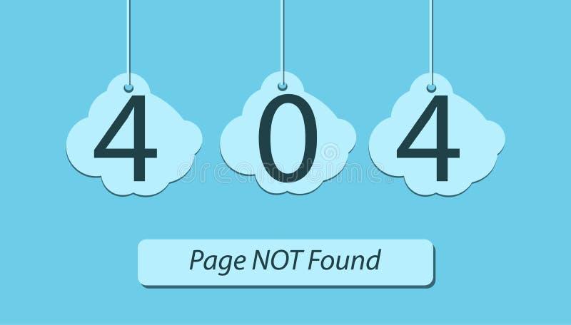 Illustration plate non trouvée des erreurs 404 de page illustration libre de droits