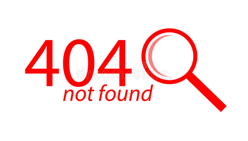 Illustration plate non trouvée des erreurs 404 de page illustration stock