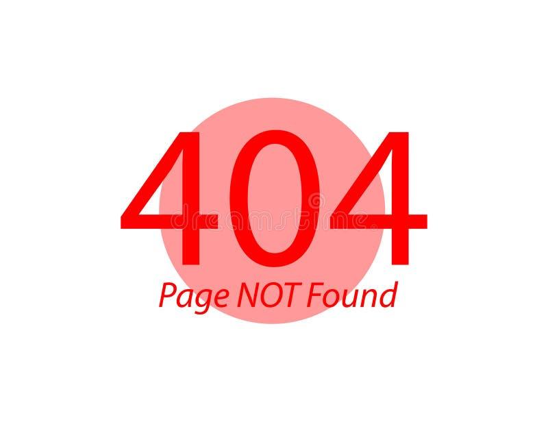 Illustration plate non trouvée des erreurs 404 de page illustration de vecteur