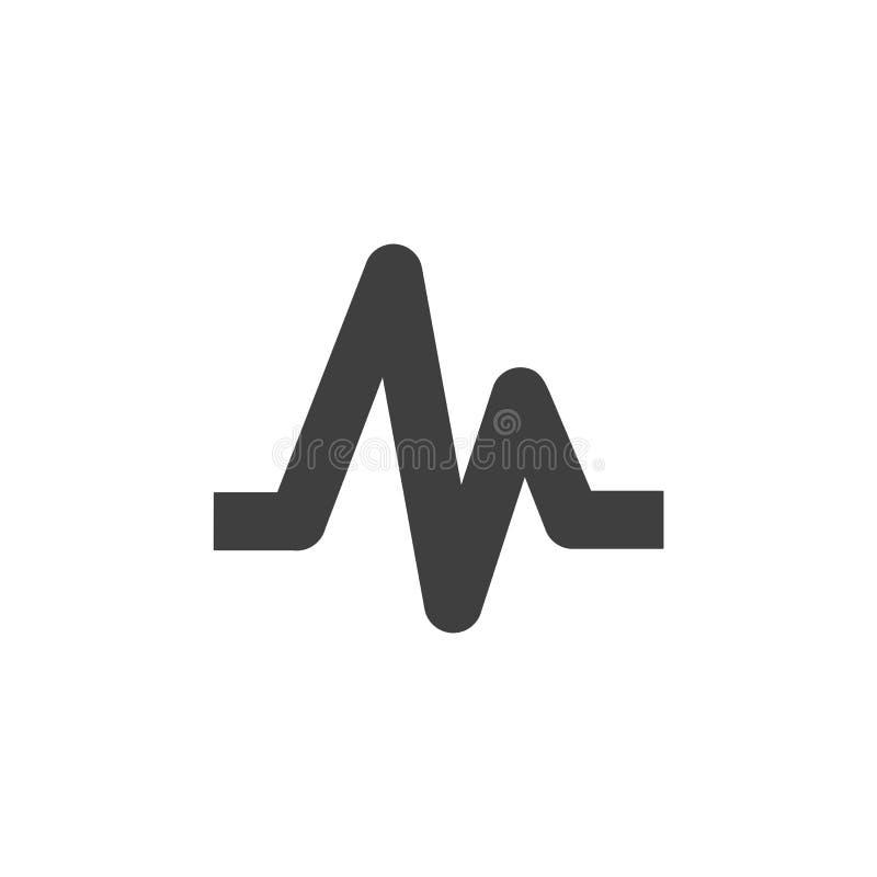Illustration plate simple d'icône médicale de hearbeat d'impulsion illustration de vecteur