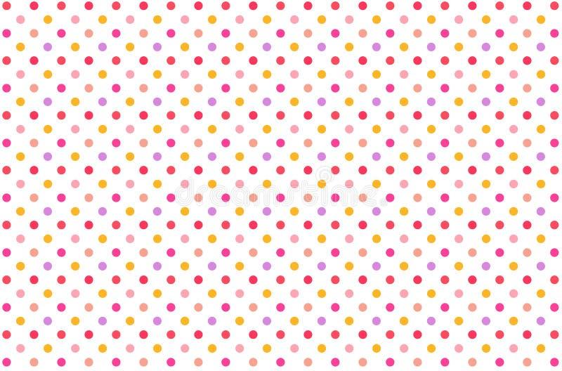 Illustration of Polka dots pattern background. Illustration polka dots pattern background colors design template element vintage creative concept small backdrop stock illustration