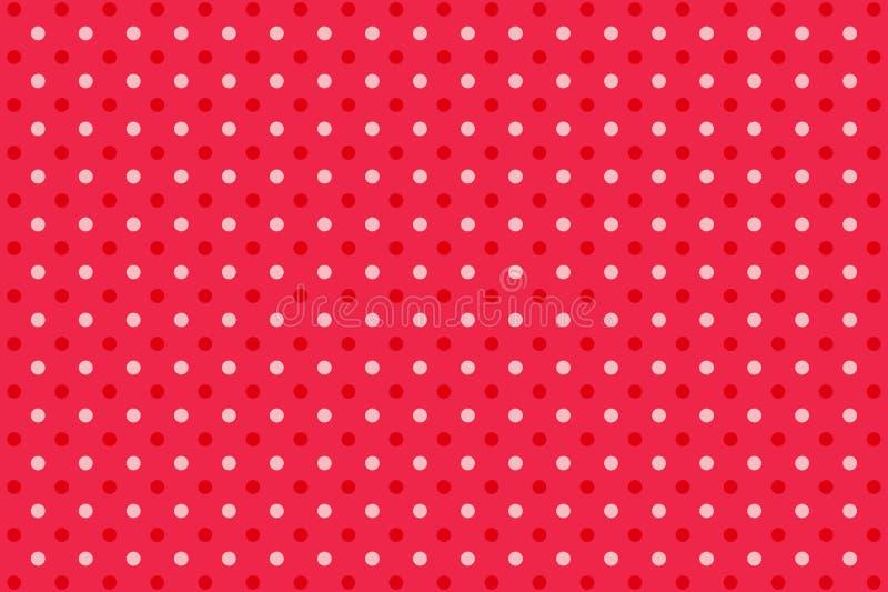 Illustration of Polka dots pattern background. Illustration polka dots pattern background red seamless backdrop retro vintage design graphic circle many banner royalty free illustration