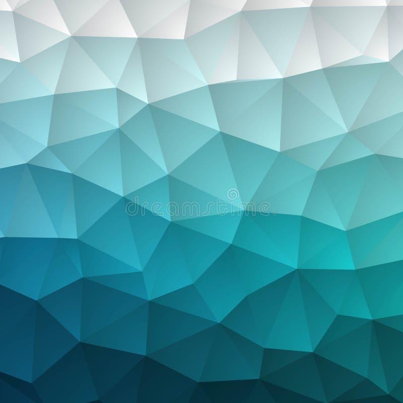 Illustration polygonale bleue, qui se composent des triangles Fond g?om?trique dans le style d'origami avec le gradient Conceptio illustration libre de droits