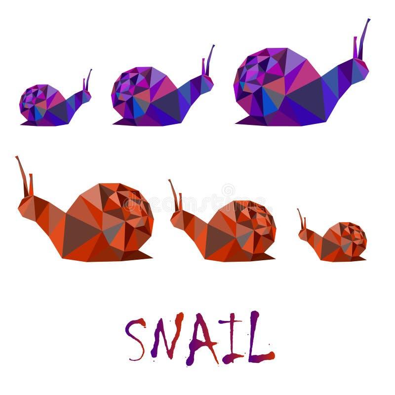 Illustration polygonale d'escargot de jardin photographie stock