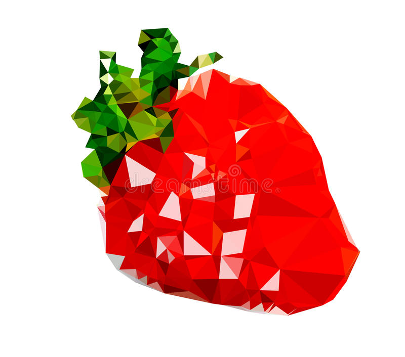 Illustration polygonale de fruit de fraise illustration stock