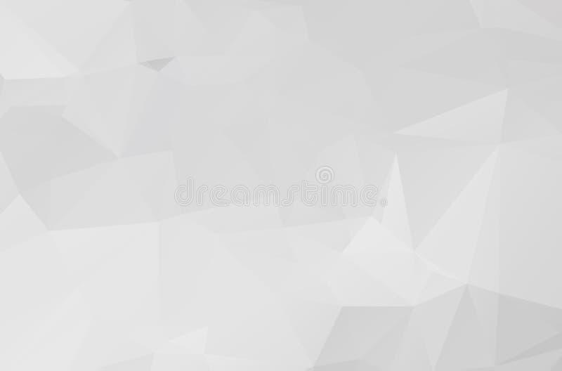 Illustration polygonale de Gray White, qui se composent des triangles Fond g?om?trique dans le style d'origami avec le gradient t illustration libre de droits