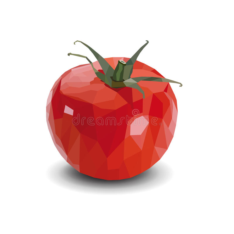 Illustration polygonale de tomate - illustration photo stock