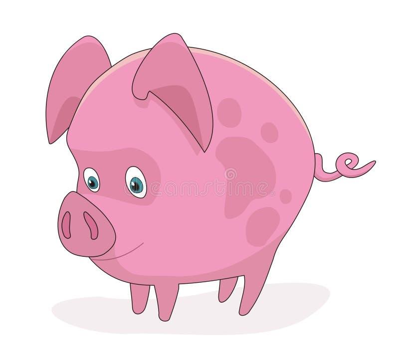 Illustration porcine de vecteur de dessin animé de porc photo libre de droits